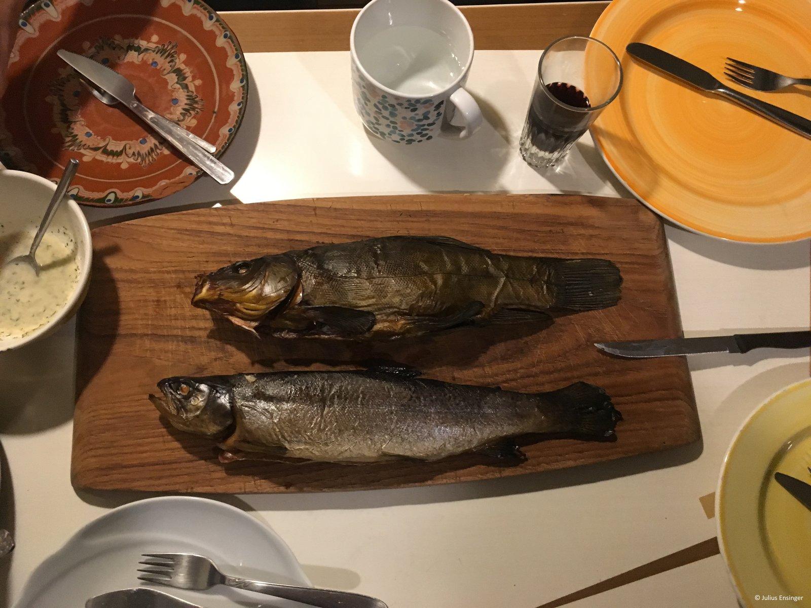 Schleie und Forelle geräuchert - Guten Appetit.JPG