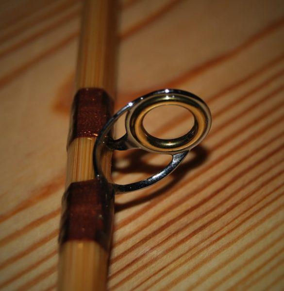 Ring einer gespließten Fliegenrute