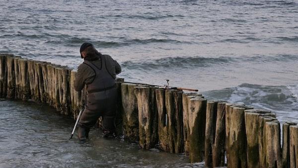 Dorschangeln vom Ufer