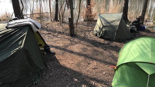 Angelcamp Karpfencamp Zelte