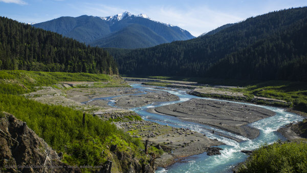 Elwha River Wildwasser Lachsfluss in den USA