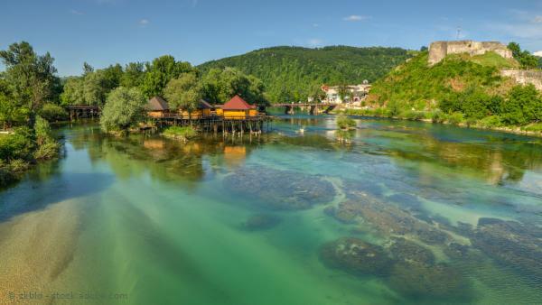 Una - naturbelassener Forellenfluss auf dem Balkan