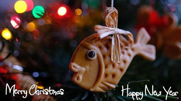 Fisch am Weihnachtsbaum